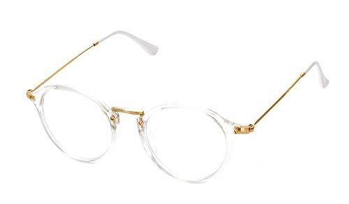 YKDDGG Modeaccessoires Sonnenbrillen Super Clear Transparent Crystal Frame Klare Linse Brille Retro Brille Pink Frame Sonnenbrille Schwarz Frame Brilleklar