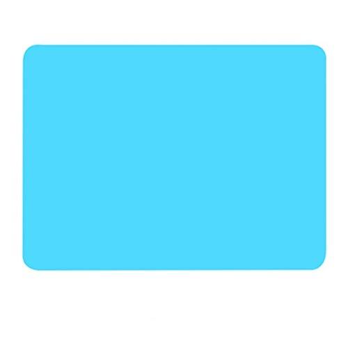 HUOYAN 40 * 30 cm Silikon Backmatte Non Stick Pan Liner Tischset Tischschutz Küche Gebäck Backformen Matte Ofen Wärmedämmung Pad (Color : Blue) Silikon-pan-liner