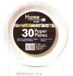 30 assiettes en papier 23 cm, idéal pour les fêtes, barbecues, les buffets