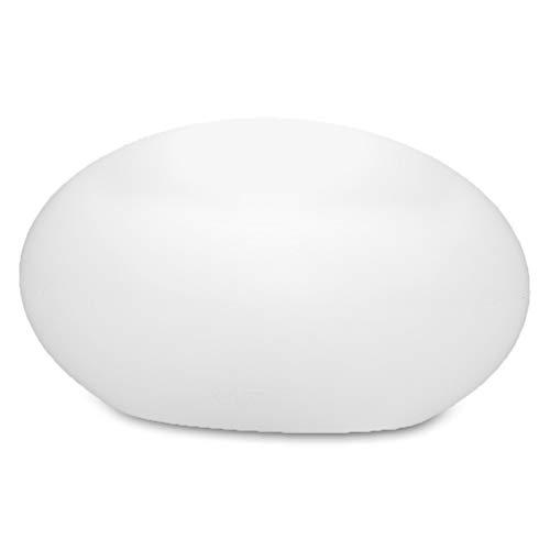 Ovale Dekoleuchte 42x24cm für Outdoor & Indoor | Bodenlampe Außenleuchte E27 | Lampe für Innen und Aussenbereich geeignet | Leuchte in ovaler Form Dekoleuchte weiß
