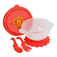 Manchester United FC Official Baby Weaning Feeding Bowl & Cutlery 21IcabR3FgL