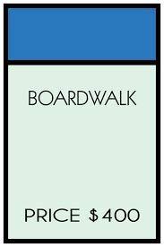 Monopoly Brettspiel Wandaufkleber für Zimmer oder Schlafzimmer / Boardwalk Board Walkpark Tischkarten Board Sticker Kids Walls Family Fun Kinder Strategy Spiele Art Decor Größe 50,8 x 38,1 cm