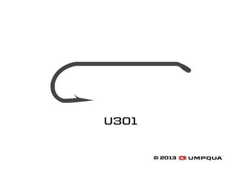 Umpqua u-series Fliegenbinden Haken U301, einfarbig -