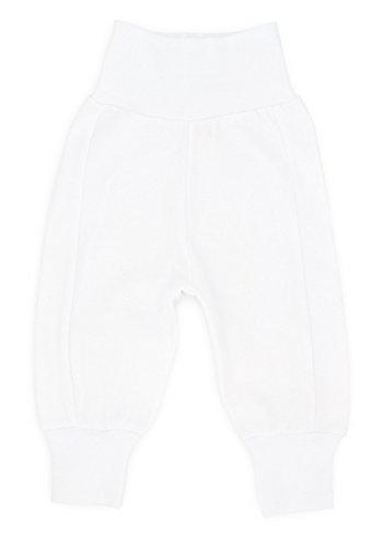 MAKOMA Baby Jungen und Mädchen Hose ohne Fuß Krabbelhose (68- 92) (86, Weiß) (Oma Hose Kleinkinder)