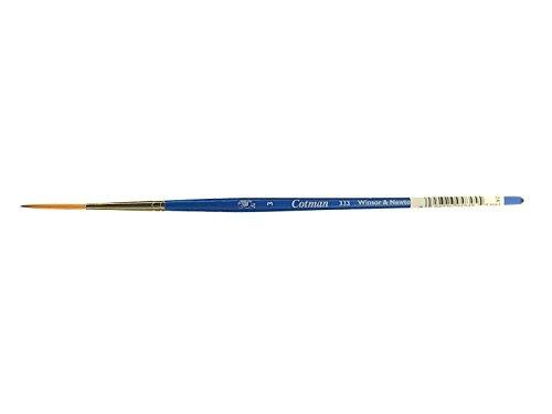 Winsor & Newton 5303003 Cotman Aquarell Synthetikhaar Pinsel - Serie 333 - Takelagepinsel, kurzer Stiel mit exzellenter Sprungkraft, Farbtragekraft und Punktgenauigkeit - Nr. 3 - 2 mm -
