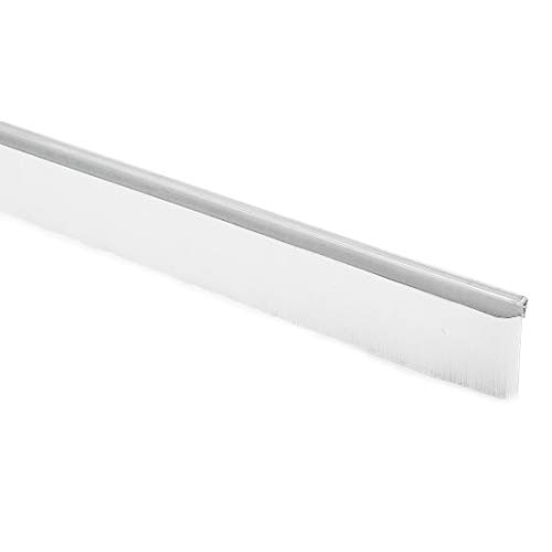 40-zoll x 0,8-Zoll Türboden Fegen Nylon Pinsel Einsatz Siegel weiß DE -