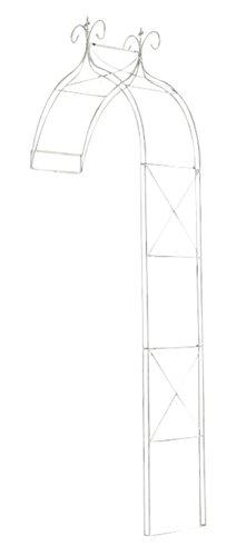 Arche à Rosiers en fer coloris blanc antique - 300 x 118 x 40 cm - PEGANE -
