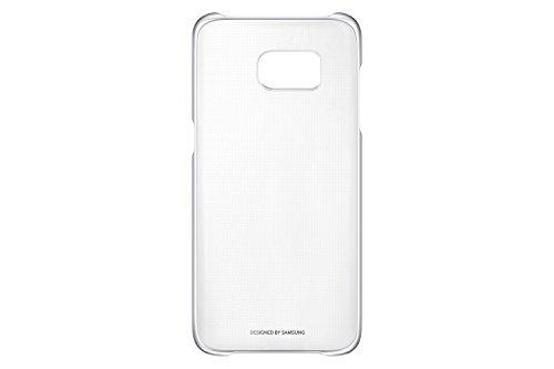 Samsung clear view cover per galaxy s7 edge, trasparente/argento