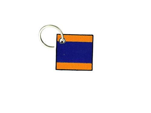 Akachafactory portachiavi ricamato patch toppa bandiera codice internazionale nautico d delta