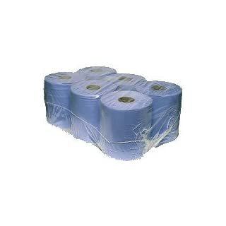 12 x Centre Feed Rolls BLUE Tissue Paper Roll (2 Ply)