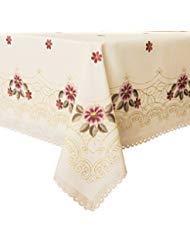 Wewoch decorativefloral druck spitze water resistant tischdecke knitterfrei und stain tischdecken 60