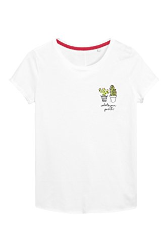 next Donna T-Shirt con Grafica Cactus Bianco