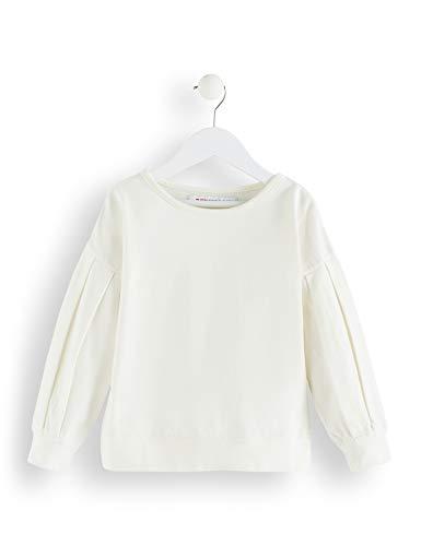 RED WAGON Mädchen Sweatshirt mit Raffungen, Weiß (Ivory), 152 (Herstellergröße: 12 Jahre)