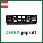 Wechselkennzeichen Rahmen: Österreich 1 Set (520X120) Set, für 1 KFZ, schwarz