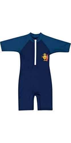 BILLABONG Speedy Sun Suit Navy für Kleinkinder - Kurzarm - UV50 + - Frontreißverschluss mit einfachem Einstieg