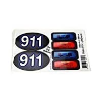 The Toy Restore Siren Light & 911 Decals Stickers Police Patrol Car DIY Fits Little Tikes Cozy Coupe Step2
