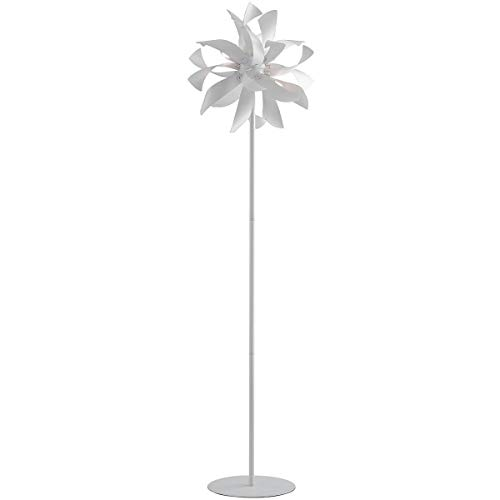 Lampadaire design BLOOM blanc et argenté en métal