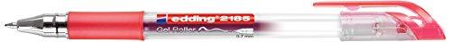 edding Gelroller edding 2185, metallgefasste Rollerspitze,  0,7 mm, rot