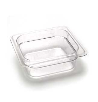 Camwear Food Pan, Plastic, 1/6 Size, 2-1/2'' Deep, Polycarbonate, Clear, Nsf (6 Pieces/Unit) by Cambro Camwear Food Pan
