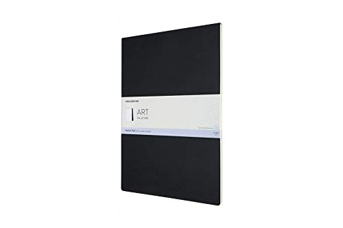 Moleskine 8058647626864 Skizzenblock, 120g Papier A3, Kartoneinband Schwarz
