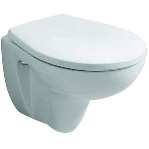 Keramag 571044000 WC-Sitz Renova Nr. 1 Comprimo mit Edelstahlscharnieren, Farbe: Weiß (Alpin)