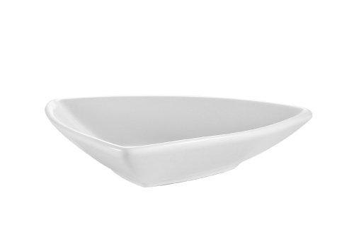 CAC China SHA-T4 Sushia 4-Inch Super White Porcelain Triangular Bowl, Box of 48