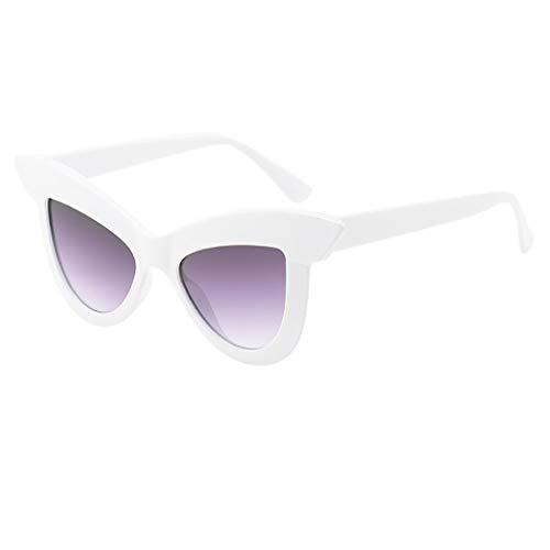 iYmitz Sonnenbrille Frauen, Vintage Katze Auge Retro Brillen Mode im Klassiker Stil Farbkombinationen Damen Brille(Mehrfarbig,A)