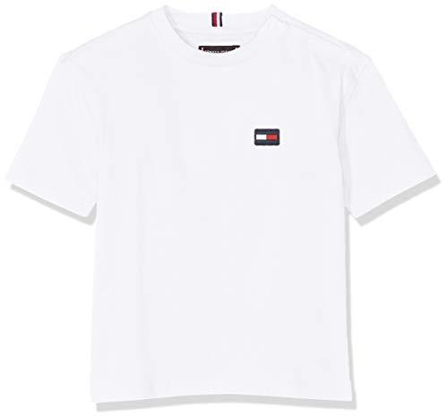 Tommy Hilfiger Baby-Jungen Essential Boxy Flag S/S T-Shirt, Weiß (Bright White 123), (Herstellergröße: 86)