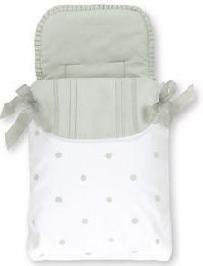 Bimbi Romantic - Saco capazo, 35 X 77 cm, blanco y lino