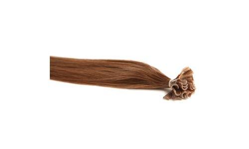 Extensions Cheveux Kératine 100 mèches indiennes 0,8gr Noisette Clair 50cm