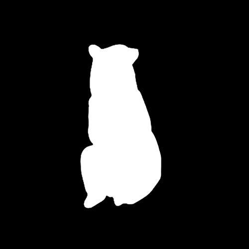 Wild-tier-silhouette (Auto autoaufkleber aufkleber 7,8 * 15,9 CM Geheimnisvolle Bär Silhouette Wilde Tiere Vinyl Zubehör Hohe Qualität 1 Stück)