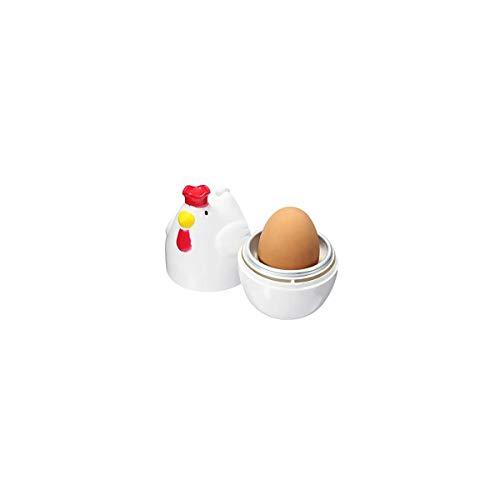 Holidaysummer Mikrowellen-Verdampfer, klein, Huhnform, 1 Eierkocher, Mikrowellen-Eier-Werkzeug, Ringmacher, Küche, Flippin, fantastischer Küchenei-Maker