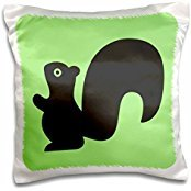 TNMGraphics Animals - Squirrel on Green Tile - 16x16 inch Pillow Case