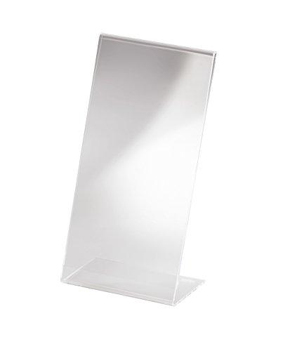 Sigel TA215 Tischaufsteller schräg, für DIN lang, glasklar, Acryl - weitere Größen