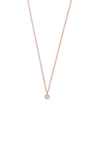 Xenox Damen Halskette XS7283R Silberschmuck roségold