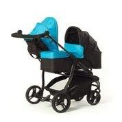 Baby Monsters Silla gemelar EASY TWIN 2.0 + 1 Capazo ( Danielstore ) +1 GRUPO 0 + 1 Adaptador + Regalo de un saco para silleta