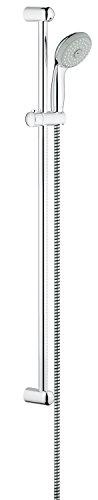 Preisvergleich Produktbild GROHE Tempesta 100, Brause- und Duschsystem - Brausestangenset, 900 mm, 3 Strahlarten, FESTE BOHRLÖCHER zur Befestigung, mit Durchflussbegrenzer, chrom, 28789001
