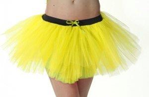 3 Layers Neon Yellow Tutu Skirt - Sizes 6 to 14
