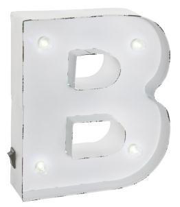 Blanco vintage iluminado Carnival Lights–A-Z–Elección de