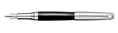 Caran d'ache Pluma Estilográfica Leman Bicolor Plata / Negro