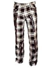 Nix Gut Tartan Street Style Zip Pants White