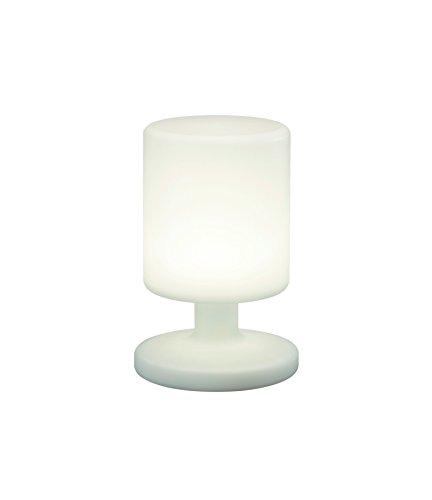 Reality Leuchten LED Akku Tischlampe Tischleuchte, 1,5W, USB, 25,5 cm Höhe, weiß R57010101 [Energieklasse A++] (Tischlampe Hoch)