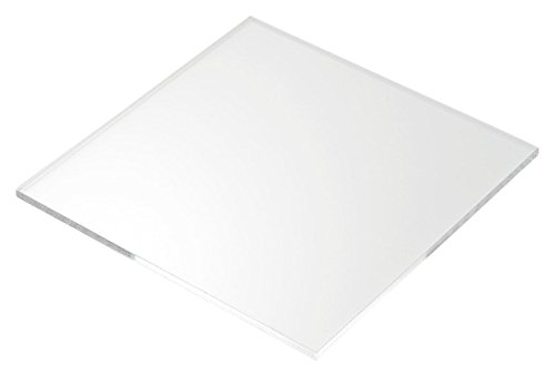 Cast Acrylic Sheet 12 x 12 inches - Transparent clear- 3mm thickness