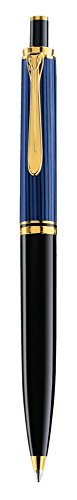 Ausziehbarer Pelikan-K400-Premium-Kugelschreiber, schwarz/blau