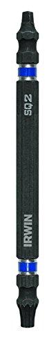 IRWIN 1892077 Impact Performance Series Doppelseitige Schraubendreher Power Bit, T25 Torx/Nummer 2 Vierkant 4 Zoll, 10 Stück