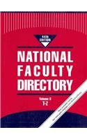 National Faculty Directory: 3 Volume Set