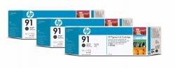 HP C9480A - 91 Matte Black Ink CART 3-Pack -