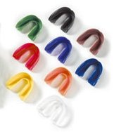 Zahnschutz / Gebißschutz für Oberkiefer mit Dose transparent / durchsichtig / clear