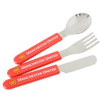 Manchester United Childs Cutlery 3 Piece Set - One Size Only