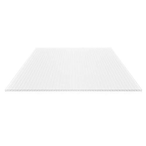 Stegplatte   Hohlkammerplatte   Stegfünffachplatte   Material Polycarbonat   Breite 980 mm   Stärke 16 mm   Farbe Opal Weiß   Extra stark